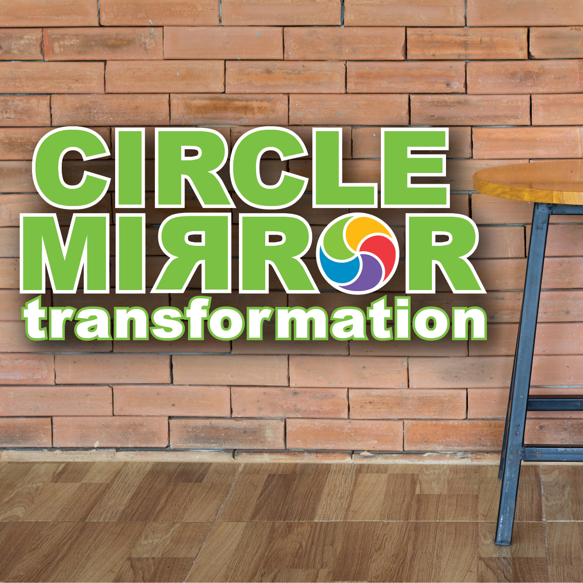 Ennis Circle Mirror Graphic for Magnet